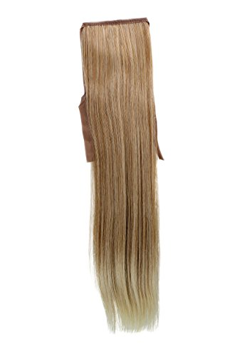 Postiche, queue, mix de blond clair cuivré, lisse, 45cm YZF-TS18-27T88 Band Extension capillaire à pince