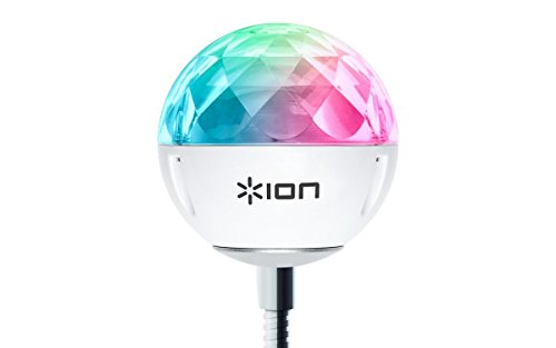 ION Audio Party Ball USB - Ultra-kompakte, USB-betriebene Discokugel, synchron im Takt zur Musik - Perfekt für Laptops, Fernseher und kompatible ION Audio Aktivlautsprecher