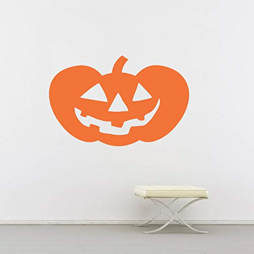 jiuyaomai Happy Pumpkin Halloween Wandtattoo Vinyl Jack Laterne Muster Wandaufkleber Für Kinderzimmer Holiday Hallows Eve DIY 88x57 cm