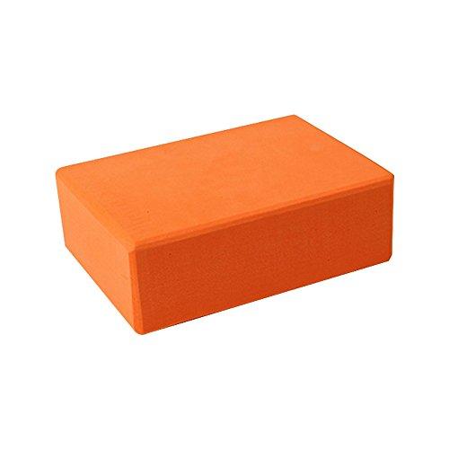 Hohe Dichte EVA Yoga Schaum Block Brick 5Farben Yoga Bricks Blocks Set von 2bietet Stabilität Balance verbessern Stärke für Pilates Yoga Workout Fitness und Gym, Orange