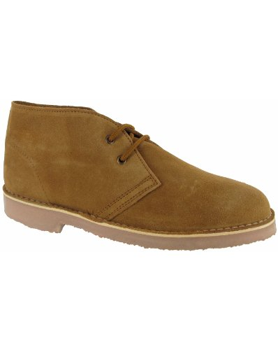Cotswold Mens Sahara Desert Boot Taupe Suede Lace Up Desert Boot 8