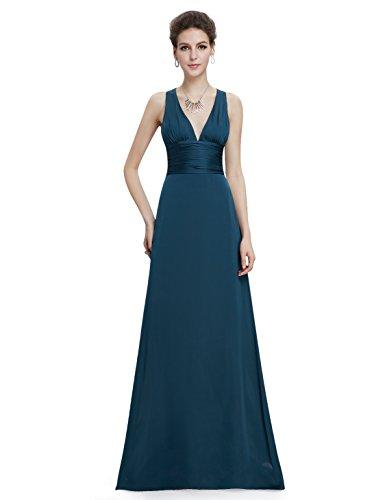 Ever Pretty Robe de Demoiselle d'honneur Dos croix V-col 09008 Vert fonc¨¦