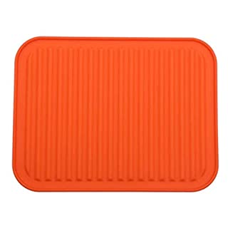 Best Silikon-Topflappen, Topfuntersetzer Mat, Backen Gadget Kitchen Table Mat - Wasserdicht, Wärmeschutz, Anti-Rutsch-, Topfuntersetzer, Besteck Pad Untersetzer 22 X 30 cm (orange)