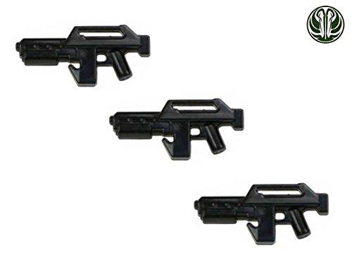 3x M41 Pulse Rifle Blaster custom Waffen für Lego Star Wars Figuren -schwarz- -