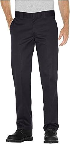 Dickies WP873 Slim Straight Work Pant, 29W x 32L, Black