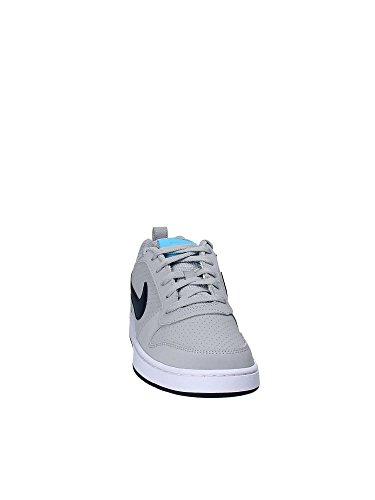 Nike Court Borough Low, Scarpe da Basket Uomo Grigio/Blu/Bianco (Wolf Grey/Armory Navy-Blue Fury-White)