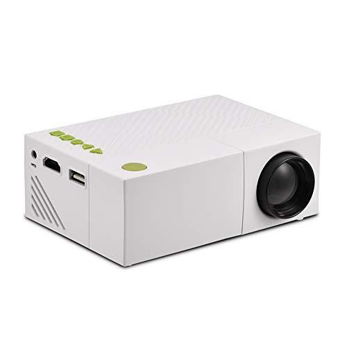 VBESTLIFE 1080P Portable Projektor,Mini Heimkino Video LED Projektor,unterstützt USB/TF/AV/HDMI Eingang,Weiß(EU)