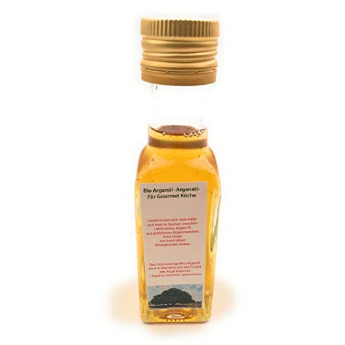 Arganati - geröstetes Bio-Arganöl von der Frauenkooperative aus Marokko - 100 ml -