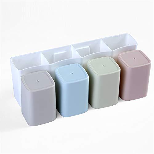 4 Stück Zahnbürste Holder Wand montiert Kosmetische Speicherbox-Dusche und Bad Zahnbürste Cup 4 Color Set ohne Bohren