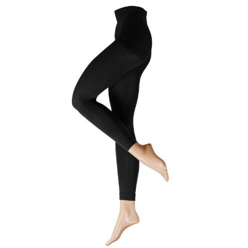 Nur Die Damen Legging 711680, Gr. 48 (44-48/L), schwarz (schwarz 094)