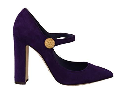 Dolce & Gabbana - Damen Schuhe - Pumps Purple Suede Leather Mary Jane Pumps Size: 39