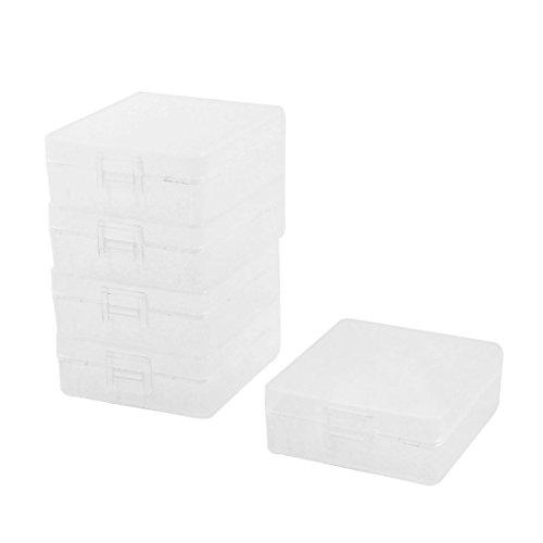 sourcingmap® Scatola contenitore di plastica trasparente per 2 pile batterie 9V (5 pezzi)