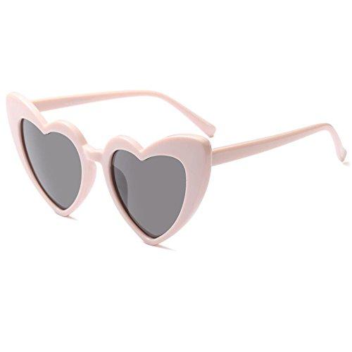 Zhuhaixmy Frauen Goggle Heart Sonnenbrille Vintage Cat Eye Mod Stil Retro Brillen