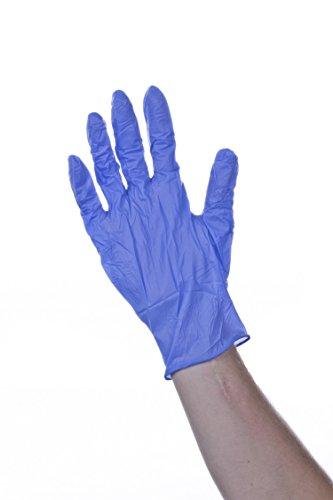 Healthline–Medical nggs6906guante, Bodyguard estériles de látex de nitrilo examen desechables, tamaño mediano, color azul (Pack de 50)