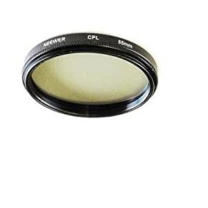 Neewer 55Mm Circular Polarizing Filter (Cpl) For Kodak, Nikon, Canon & Any Camera With A 55Mm Filter Thread!