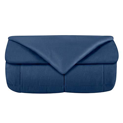 Odyseaco Weighted Blanket Gewichtsdecke Therapiedecke I Besser Schlafen, schwere Decke als Einschlafhilfe Erwachsene Kinder I gewichtete Decke Bettdecke 150 x 200 cm 9.1 kg Blau