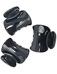 Evogirl Claw Clip Curve Shape Everyday Wear Hair Clip Butterfly Glossy Black, Small, For Women/Girls
