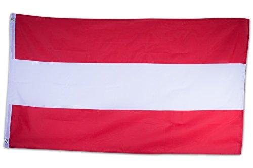 SCAMODA Bundes- und Länderflagge aus wetterfestem Material mit Metallösen (Österreich) 150x90cm