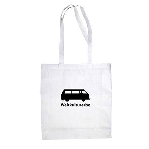 Weltkulturerbe Bulli T3 - Stofftasche / Beutel Weiß