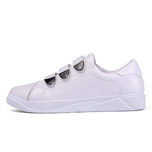 Uomo Allaperto Ballerine Scarpe sportive Moda formatori Fondo spesso Piede di protezione Aumenta le scarpe euro DIMENSIONE 39-44 white
