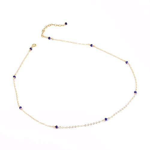 ld Lapislazuli Halskette Mode - Charakter Temperament Einfach Und Großzügig Schlüsselbein. ()