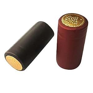 Ton Or Bourgogne PVC Shrink Capsules pour bouteilles de vin vin (couleur aléatoire)