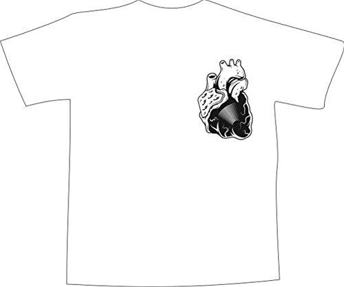 T-Shirt E354 Schönes T-Shirt mit farbigem Brustaufdruck - Logo / Grafik ...