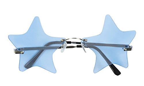erdbeerloft - Stars, Sterne Hippie Brille, Kostüm Sonnenbrille, (Kostüme Rock 90's Stars)