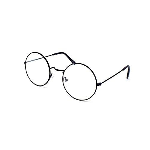 Brille bedeckt Schwarz Farbe Glas klare Linse Brille Kostüm Glas Leute Nerde Sonnenbrille Geek Brille Sonnenbrille schwarz stil weiblich weiß (Adult Aviator Hut)