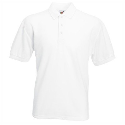 Fruit of the Loom - Piqué Polo Mischgewebe L,White -