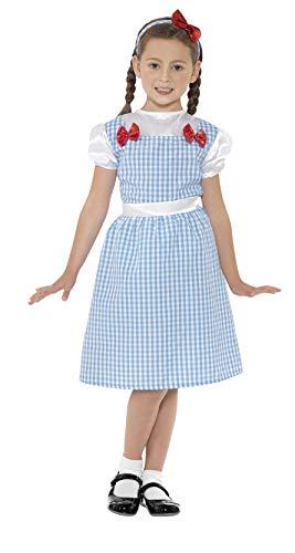 Smiffys Kinder Bauernmädchen Kostüm, Kleid und Haarreif, Größe: S, 41102