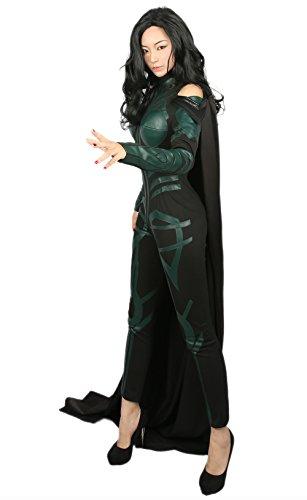 ay Kostüm Damen Jumpsuit PU Outfit für Erwachsene Verrücktes Kleid Kleidung Merchandise Zubehör (Loki Damen Kostüm)