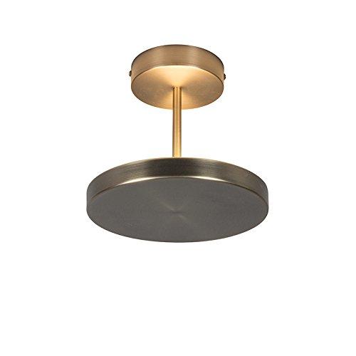 euchte / Deckenlampe / Lampe / Leuchte Disco bronze / Innenbeleuchtung / Wohnzimmer / Schlafzimmer / Küche Glas / Metall / Rund / Andere / inklusive LED (nicht austauschbare) LED M (Disco Deckenleuchte)