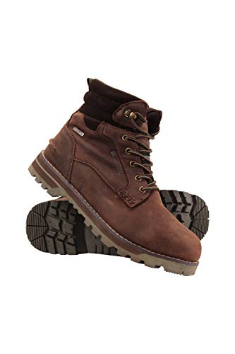 Mountain Warehouse Shiya Winter Mens Waterproof Hiking Boots - Isotherm, Warm, Thermal Shoes, Waterproof Rainboots, Sturdy Grip, Longlasting Footwear - for Snow, Camping