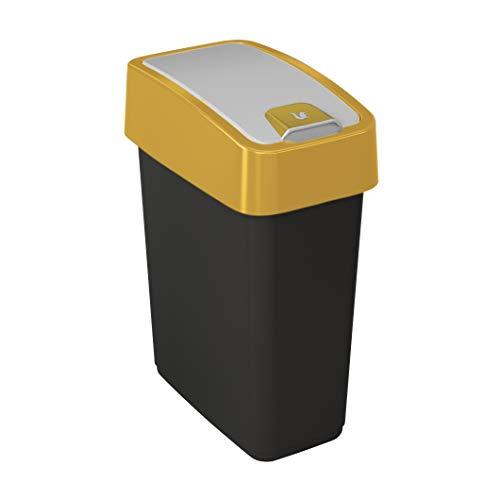 Keeeper magne Cubos de Basura, PP/TPE, Amarillo, 10 litros para Bolsas de 18-20 l