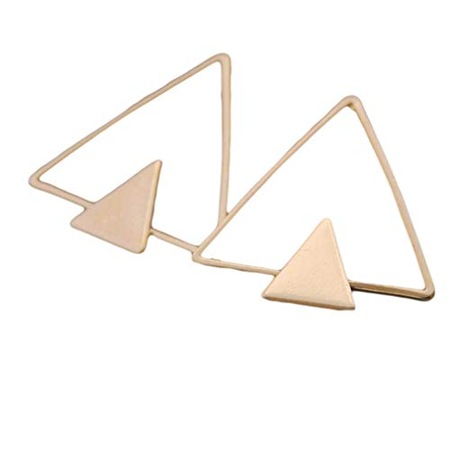 JOYfree Texture Geometric Earrings Einfache Polygon Leichte Ohrstecker Klassischer dünner Draht zarte Ohr baumelt, 3 Golden