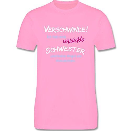 Bruder & Onkel - Geschwister Geschenke verrückte Schwester - Herren Premium T-Shirt Rosa