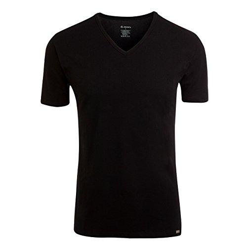 Jockey Modern Stretch V-Neck T-Shirt 3er Pack Schwarz