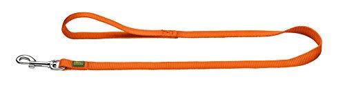 HUNTER Führleine für Hunde, Nylon, mit Handschlaufe, witterungsbeständig und pflegeleicht,  25 x 100 cm, orange -