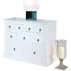"""Links 20901520 """"Provence 2"""" Cómoda de Pino en color blanco"""