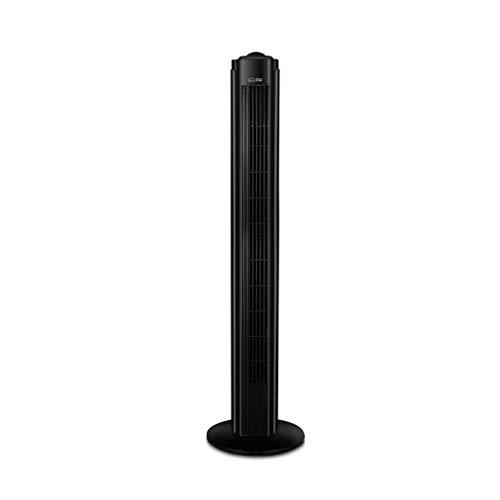 Preisvergleich Produktbild LIYFF-Kühlung Klimaanlage Ventilator Swing Tower Lüfter mit Fernbedienung und Zeitfunktion für Zuhause und Büro - Schwarz (H 80 × B 32 × T 32cm)