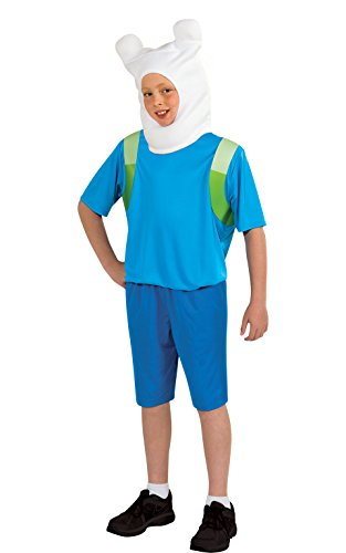 Finn Der Mensch - Adventure Time - Kinder KostŸm - Large - (Finn Time Adventure Kostüme)