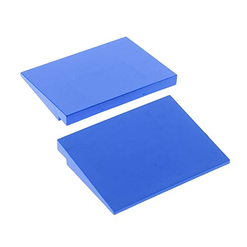 Bausteine gebraucht 2 x Lego System Dach Stein blau 6x8 Dach Rampe Schräg 10° Fliese Platte Set 3432 6763 6766 4515 -