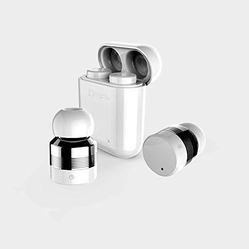 T-XYD Mini-Kopfhörer Echte wasserdichte Touch-Kopfhörer, echte Bluetooth V 5.0-Kopfhörer mit Noise Cancel-Stereo-Ladebox,White Noise Cancel-mono-headset
