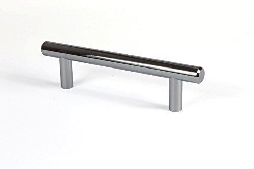 Möbelgriff Chrom 128 mm Schubladengriff rund Küchengriff für Schubladen & Küche - Modell LINEA   Stangengriff verchromt poliert glänzend   Möbelbeschläge von GedoTec®
