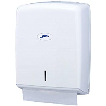 Jofel AH37000 - Dispensador de toallas formato zig-zag, admite 600 toallas, color blanco