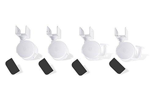 Pinolino 560 003 - Juego de ruedas para cuna con enganche en U, color blanco