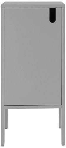 Designer-schrank (TENZO 8551-014 UNO Designer Schrank 1 Tür MDF/Spanplatte grau 40 x 40 x 89 cm)