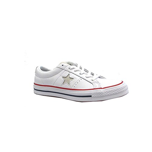 Converse One Star Leather Red/White 3 (Trim White 3)