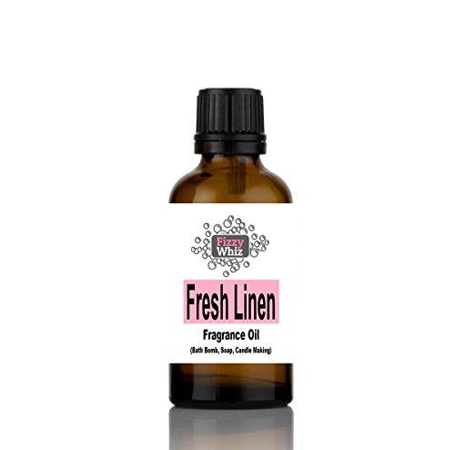 10ml Fragrance Oil - Candle, Bath bomb, Soap, Bath Salts, cosmetic Making fragrant Scent ( 18. Fresh Linen )